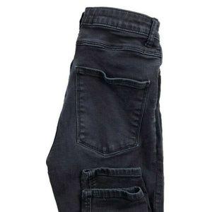 Zara Woman Faded Black Skinny High Rise Jeans